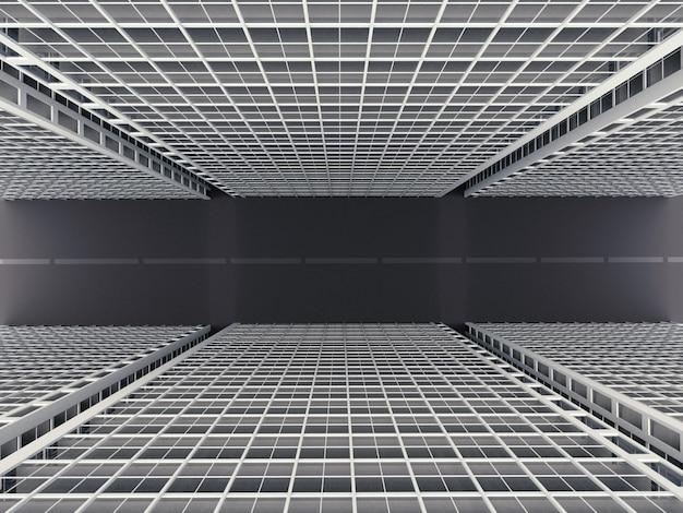 Edifício da cidade, renderização em 3d