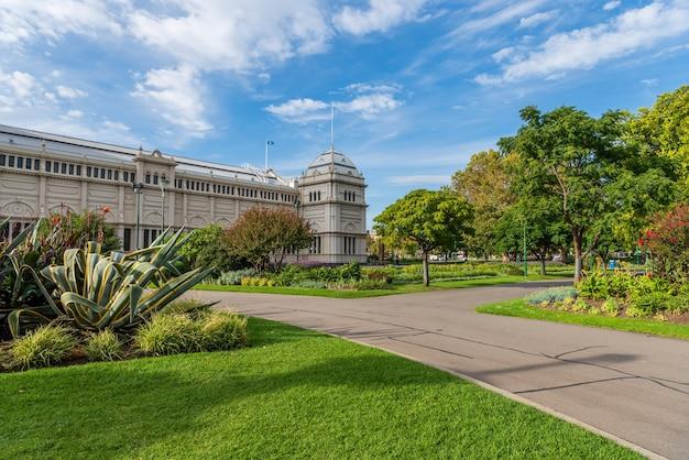 Edifício da exposição real carlton gardens, melbourne, austrália Foto Premium
