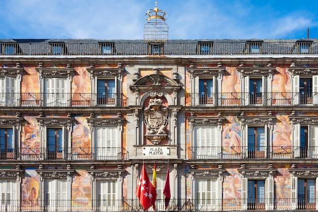 Edifício da plaza mayor, madrid, espanha