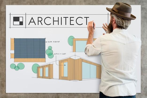 Edifício de arquitetura de estilo de renovação de decoração de casa