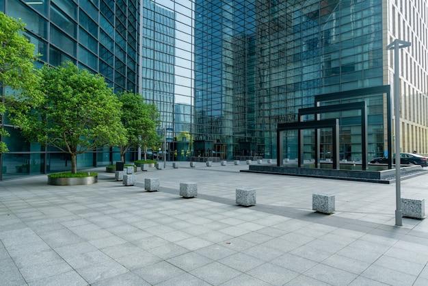 Edifício de escritórios do centro financeiro em ningbo east new town, china