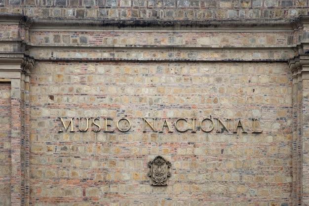 Edifício do museu nacional da colômbia em bogotá