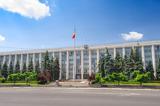 Edifício gouvernment em chisinau, república da moldávia