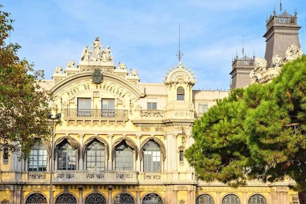 Edifício histórico de port de barcelona espanha