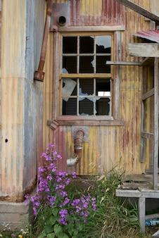 Edifício histórico, estancia san gregorio, patagonia, chile