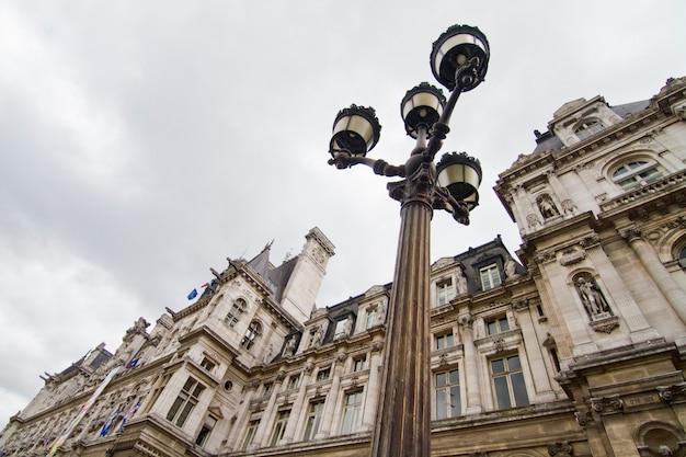Edifício hotel de ville, paris, frança