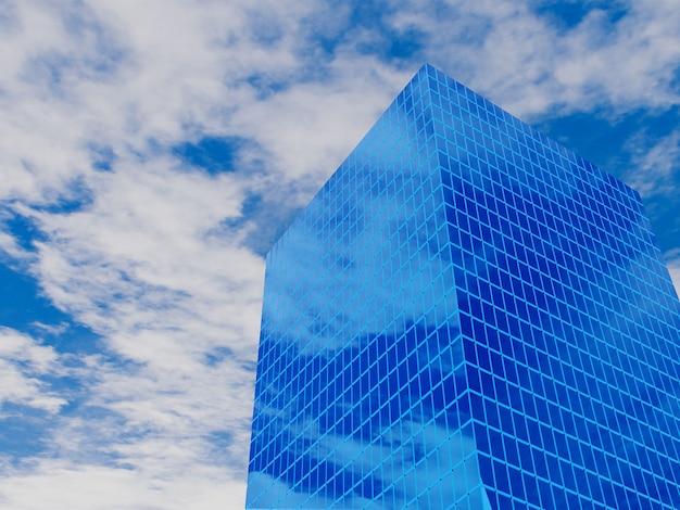 Edifício moderno de imóveis financeiros para empresas