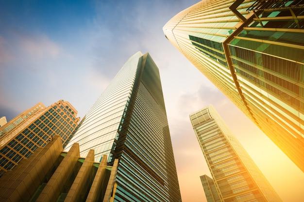 Edifício moderno, de, vista baixa ângulo