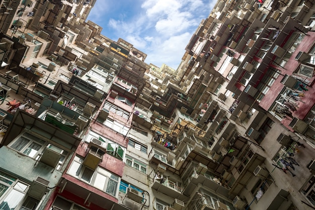 Edifício residencial de hong kong