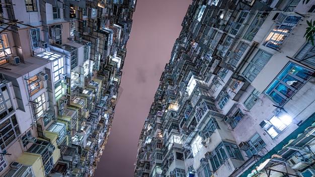 Edifício residentail em hong kong