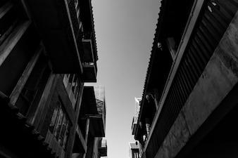 Edifícios antigos da cidade em Banguecoque