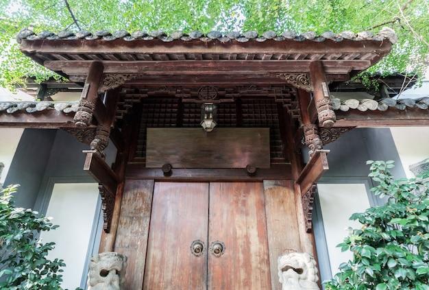 Edifícios antigos em kuan alley e zhai alley, chengdu, sichuan