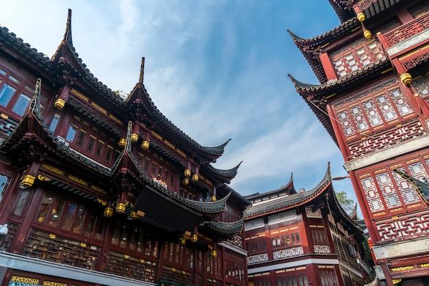 Edifícios antigos em xangai yu garden