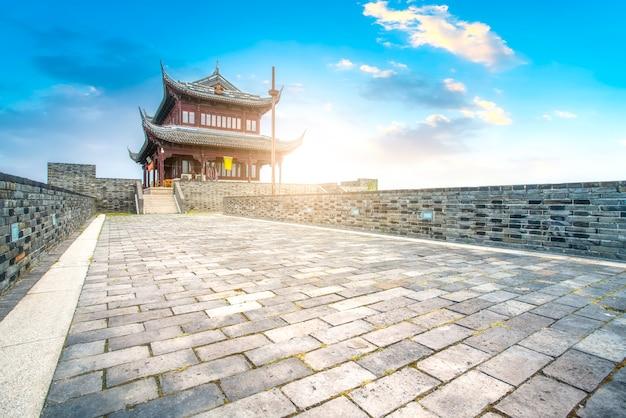Edifícios da cidade antiga em suzhou