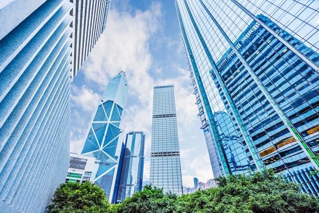 Edifícios da cidade de hong kong, arranha-céus, china
