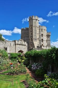 Edifícios do castelo de windsor, na inglaterra, reino unido