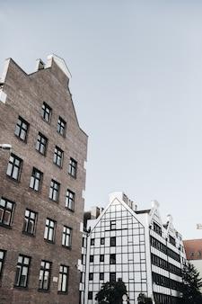 Edifícios do centro da cidade em gdansk, polônia