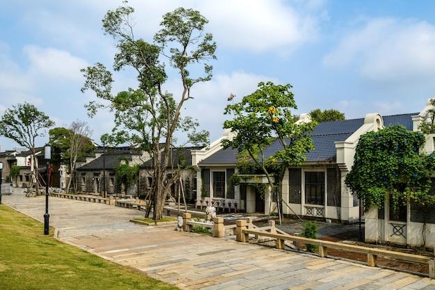 Edifícios e ruas de cidades antigas em nanjing, china