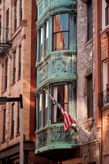Edifícios, em, a, pequeno, itália, distrito, de, boston, massachusetts, eua