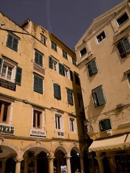 Edifícios em corfu grécia