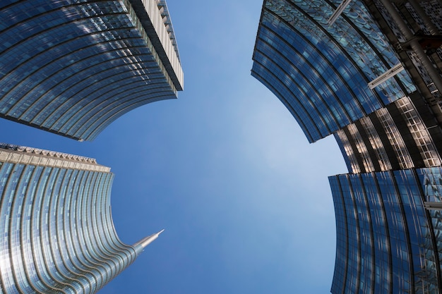 Edifícios em milão, itália