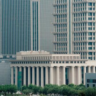 Edifícios, em, um, cidade, pudong, shanghai, china