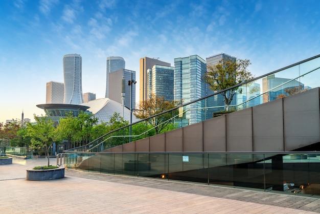 Edifícios modernos em hangzhou, china Foto Premium