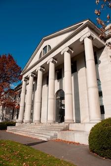 Edifícios no campus da universidade de harvard em boston, massachusetts, eua