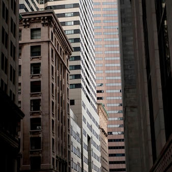 Edifícios no distrito financeiro de boston, massachusetts, eua