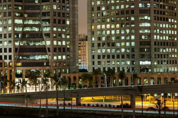 Edifícios são paulo - brasil - à noite