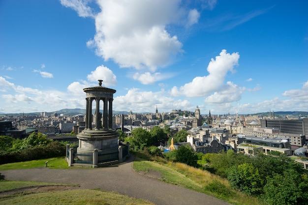Edimburgo, cidade de calton hill, escócia, reino unido,