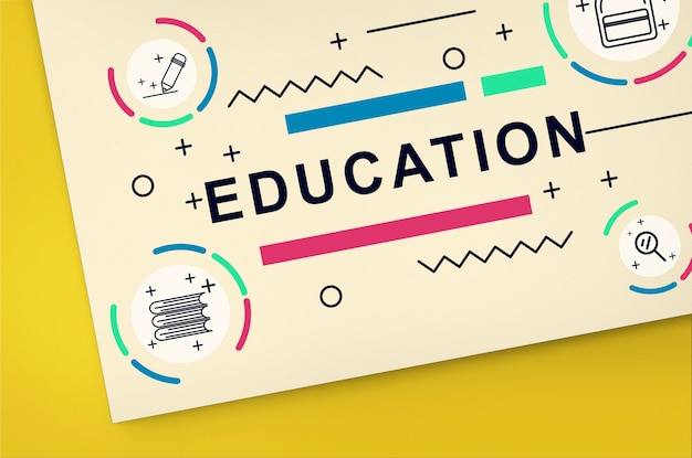 Educação aprendizagem desenvolvimento de alunos pessoas conceito gráfico