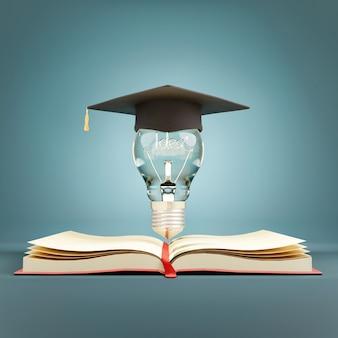 Educação, aprendizagem na escola e universidade ou conceito de ideia.