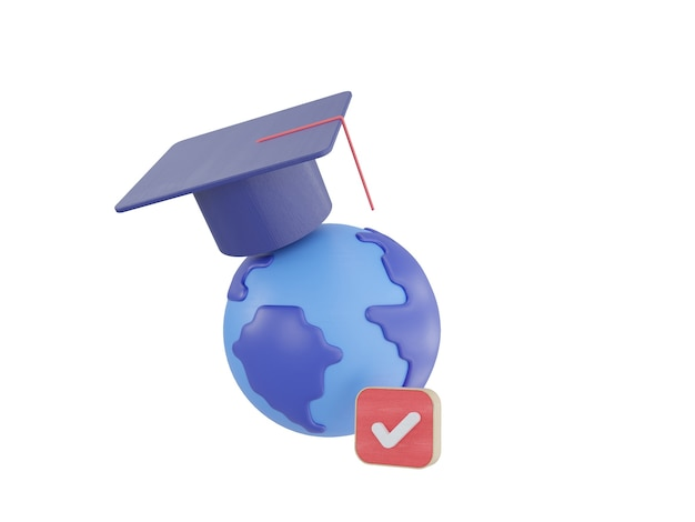 Educação on-line ilustração 3d definir ícones ebook currículo de aula on-line cinza azul