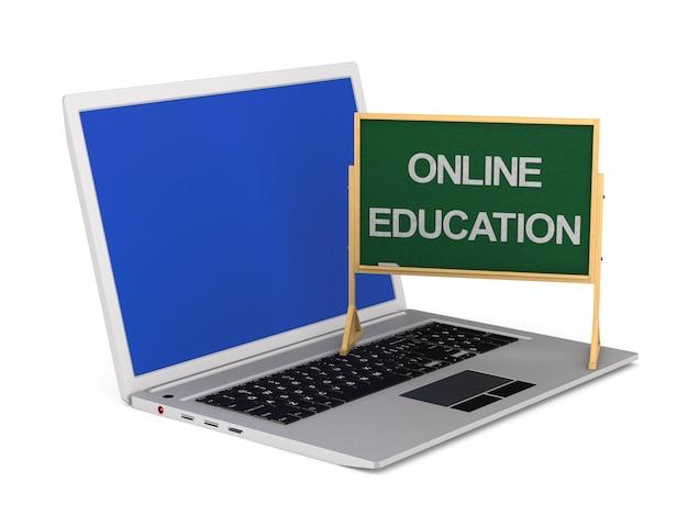 Educação online. renderização 3d isolada