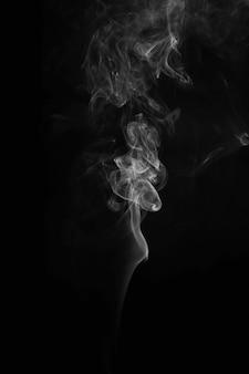 Efeito abstrato de volta e fumaça branca