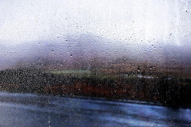 Efeito de chuva no fundo da natureza