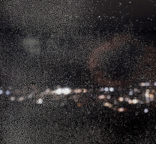 Efeito de chuva no fundo da noite