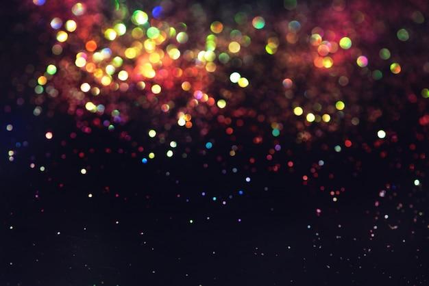 Efeito de iluminação de bokeh brilho colorfull turva abstrato