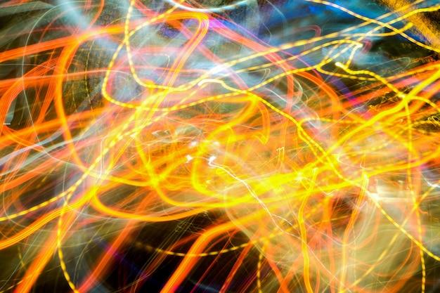 Efeito de luz da velocidade lenta do obturador.
