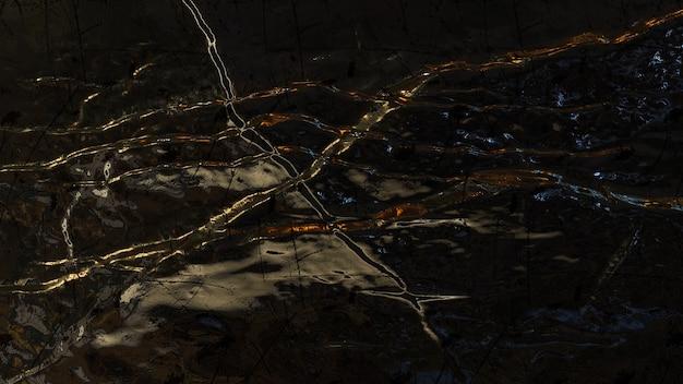 Efeito de luz de fundo metálico preto abstrato
