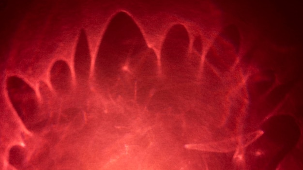 Efeito de prisma abstrato de luzes vermelhas brilhantes