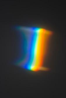 Efeito de prismas coloridos de luz