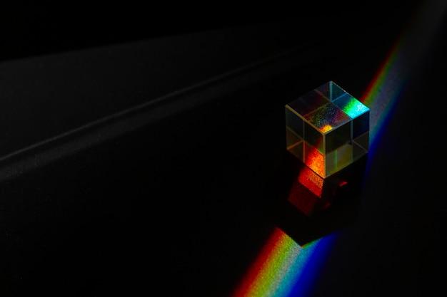 Efeito de prismas de luzes close up