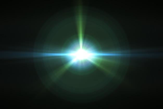 Efeito de reflexo de lente no espaço 3d render