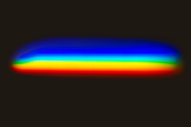 Efeito de vazamento de luz em um papel de parede preto