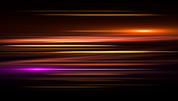 Efeito rápido raia de luz ouro. velocidade de fundo abstrato.