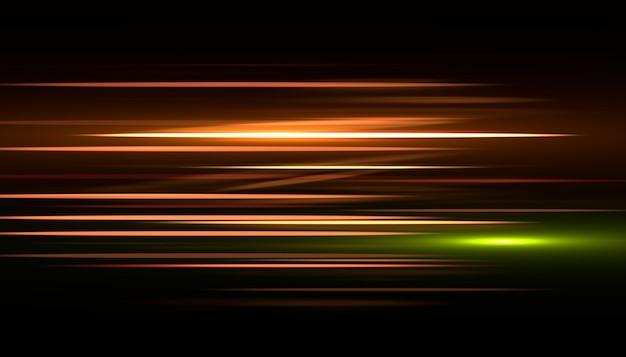 Efeito rápido raia de luz. velocidade de fundo abstrato.