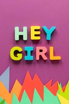 Ei, garota, mensagem para o dia da mulher