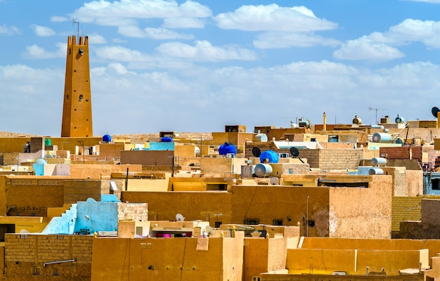 El atteuf, uma antiga cidade berbere no vale m'zab, na argélia